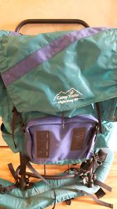 Retro camp trails backpack external frame