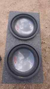 """Two 12"""" Alpine type R subs with sub box"""