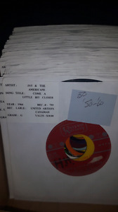 50 Assorted 45 rpm records from the 50s and 60s