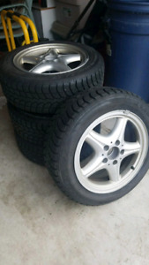4 Winter tires with rims 205/55/R16