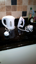 Travel steam iron and Kettle
