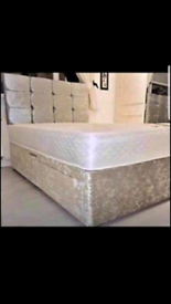 BRAND NEW HIGH QUALITY CRUSHED VELVET DIVAN BEDS AND MATTRESS 🔥✅