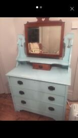 Art Noveau Dressing Table and Mirror