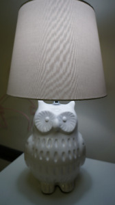 Cute Ceramic Owl Desk Lamp