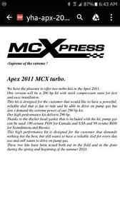 MCX low boost turbo kit