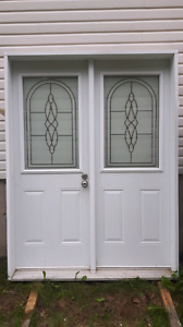 French door with vinyl covered frame