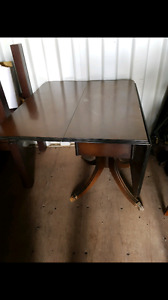 Brown Vintage Foldable Dining Table