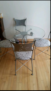 Bistro style kitchen table set
