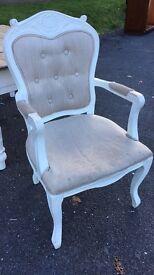Gorgeous cream carver bedroom chair