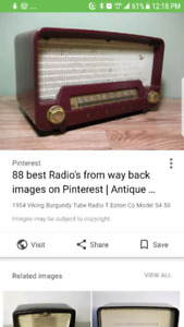 Wanted pre 1950s radios