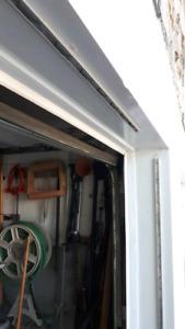 3 lisses pour sceller l'entré de garage avec toile d'abri d'auto