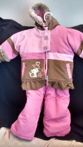 Baby girl Pink and Brown snow suit excellent condition for sale.