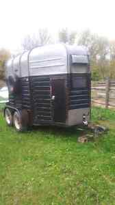 RICE 2 horse trailer front ramp
