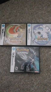 Various ds pokemon  games