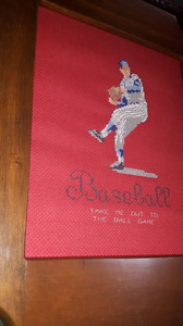 Vintage Baseball needle point