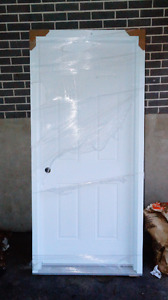 brand new 34' Jelwyn steel entry door Never used still in wrap.