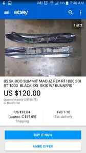Ski doo summit skis and grab strap