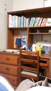 Desk, hutch and chair for sale for $60