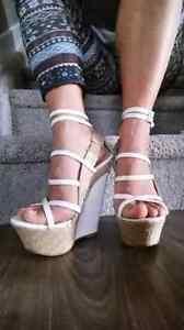 Womens size 6.5/7 wedge sandals heels