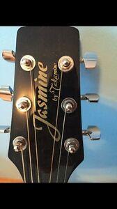 Jasmine by takamine acustic guitar with hard case