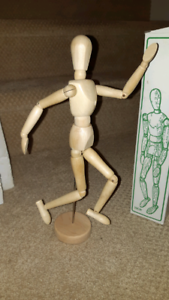 "12"" Wood Model/ Mannequin"