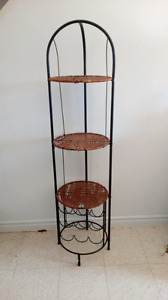 Wicker Stand and Wine Rack