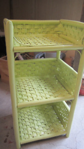 Lime Sherbet Coloured Rattan Stand