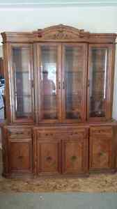 Grandfather clock buffet n hutch are sold pp ..wedding dress Cambridge Kitchener Area image 1