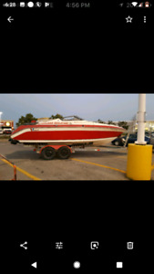 1990 23 ft wellcraft cuddy boat and trailer