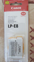 Canon Rebel T2i/ T3i/ T4i Battery Pack (LP-E8)-Brand New