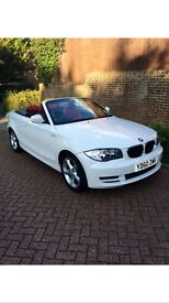 BMW 1 SERIES CONVERTIBLE 118i SE WHITE RED LEATHER 36K FULL SERVICE