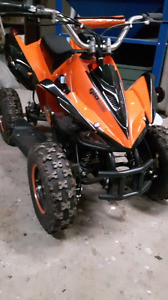 500 watt kids electric 4 wheeler  like new