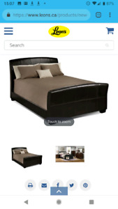 Beautiful leather look King size bed