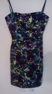 Size 6 BCBG dress never worn; tags still on, straps included
