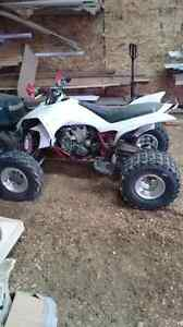 2004 yfz 450 with skis and tracks!