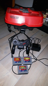 Virtual Boy with 3 games, works perfectly