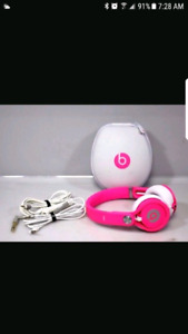 Beats limited edition pink head phones