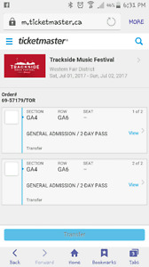 Trackside music festival tickets