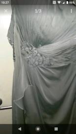 Tiffany's silver prom dress