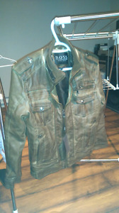 Manteau cuir jamais porté HUGO BOSS