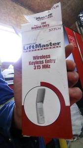 Lift master wireless garage door pad
