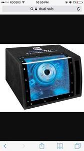 8 inch Blue Glowing Sub w/ built in Amp