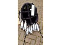 Full 8 piece Taylor made iron set with carry bag and putter.