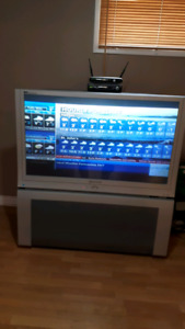 Sold  42 inch Panasonic tv, with stand.