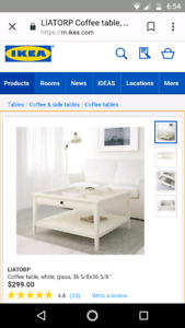 MOVING SALE: Good condition Ikea Liatorp coffee table in white