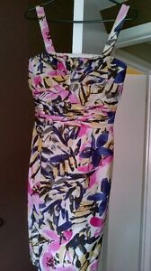 Silk Floral Dress by Banana Republic with tag on