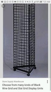 Grid wall stand