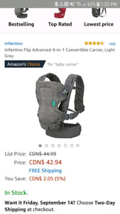 Infantino Flip carrier barely used-excellent condition