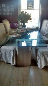 Glass top Dining table 40 x 80