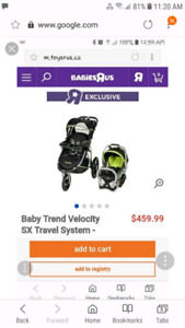 Baby stroller and carseat carrier